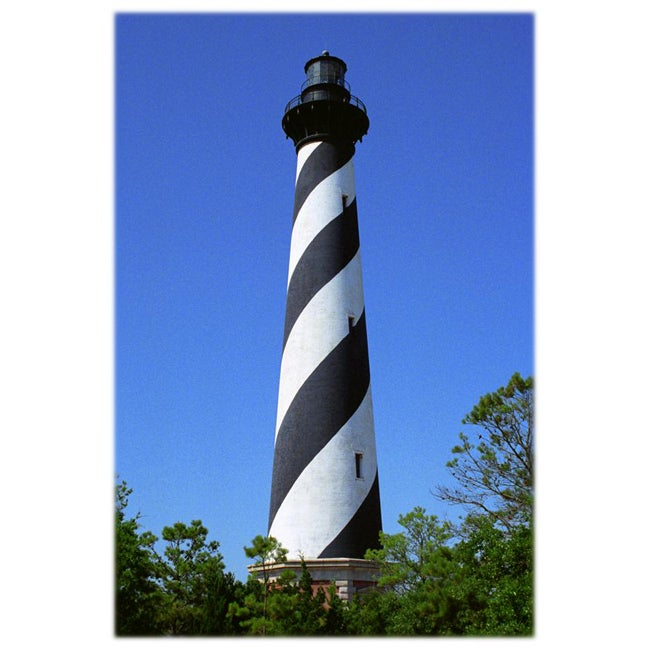 Orange Cat Art Sheri Symanski 'Cape Hatteras Lighthouse' Photo Print
