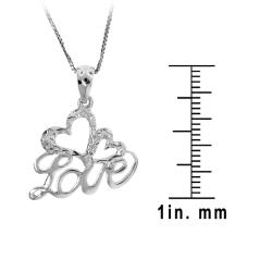 Sterling Silver 'Love' Necklace - Thumbnail 2