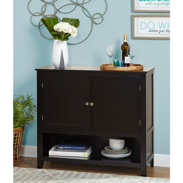 Living Dining Room Cabinets: Shop Simple Living Montego Black Wooden Buffet
