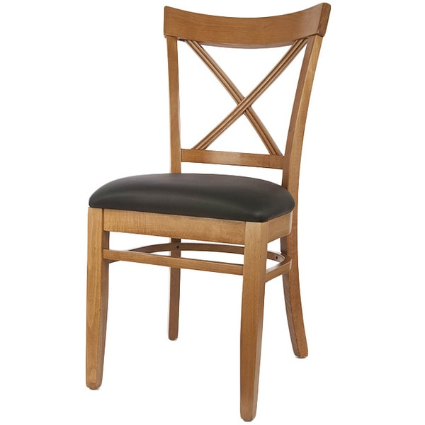 Amazing X Back Solid Wood Dining Chairs (Set Of 2)