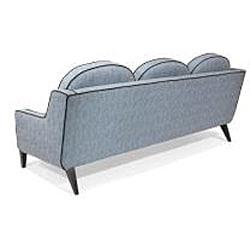 Retro Blue Lagoon Fabric Sofa