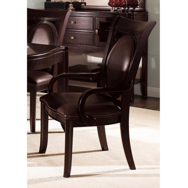 Somerton Dwelling Signature Bi-cast Brown Arm Chairs (Set of 2)