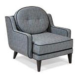 Retro Blue Lagoon Fabric Chair