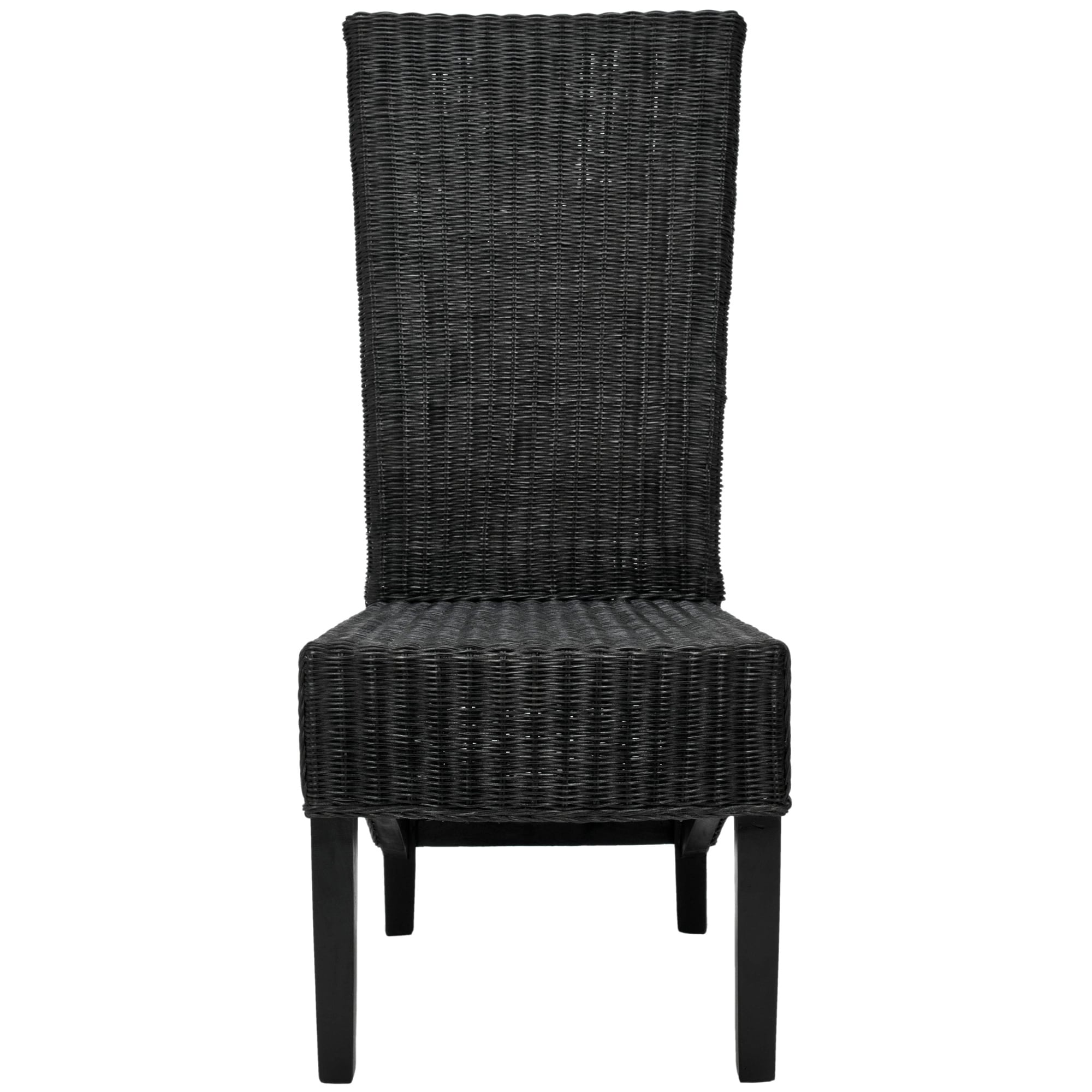 Delicieux Shop Safavieh Dining Rural Woven St. Croix Wicker Black High Back Dining  Chairs (Set Of 2)   On Sale   Free Shipping Today   Overstock   5998342