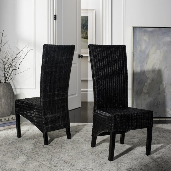 Shop Safavieh Rural Woven Dining St. Croix Wicker Black