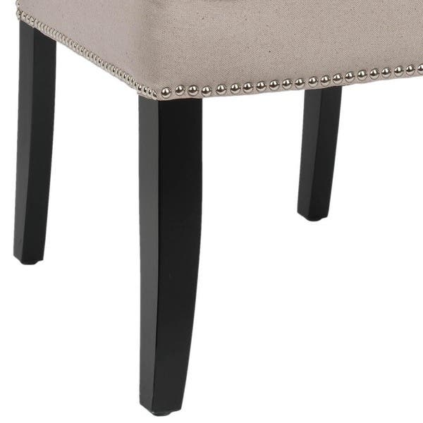 Excellent Shop Safavieh Dining Toulon Taupe Linen Dining Chairs Set Short Links Chair Design For Home Short Linksinfo