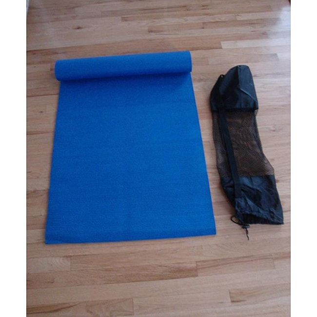 Acura Homes Non-skid Blue Synthetic-rubber Yoga Mat with Carry Bag - Thumbnail 0