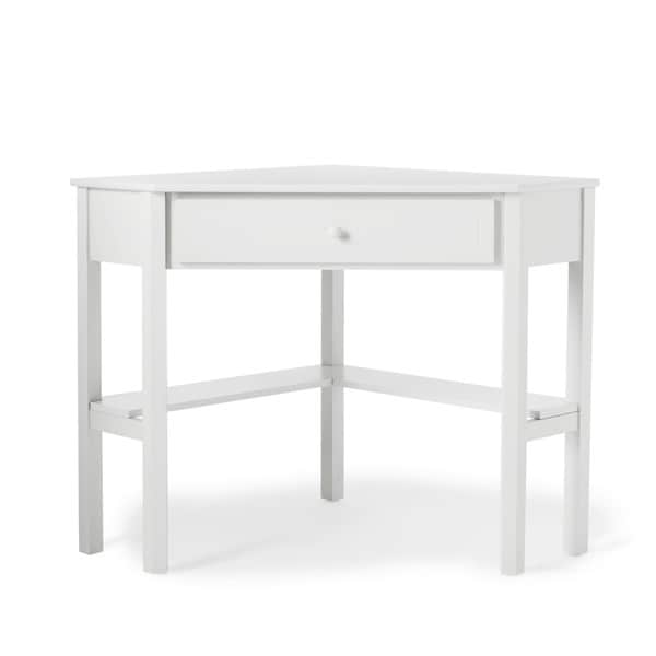 Simple Living Antique White Wood Corner Computer Desk - Free Shipping Today  - Overstock.com - 13685883 - Simple Living Antique White Wood Corner Computer Desk - Free