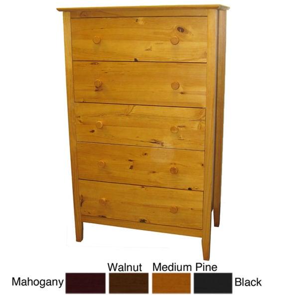 scandinavia solid pine 5 drawer dresser free shipping