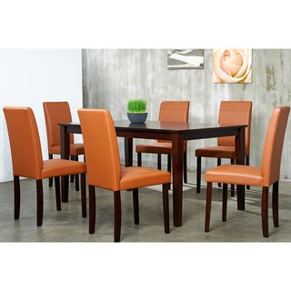 Warehouse Of Tiffany 7 Piece Toffee Dining Furniture Set