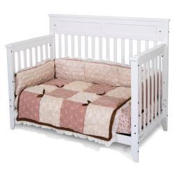 Matte White Logan Lifetime Convertible Crib Free