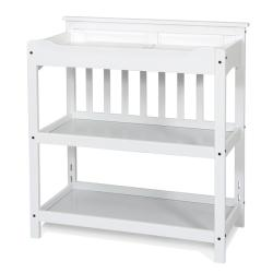 Matte White Child Craft Universal Changing Table and Twin Headboard