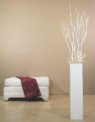 White 28-inch Floor Vase and White Mitsumata
