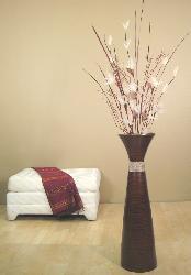 Brown 36-inch Plantation Floor Vase