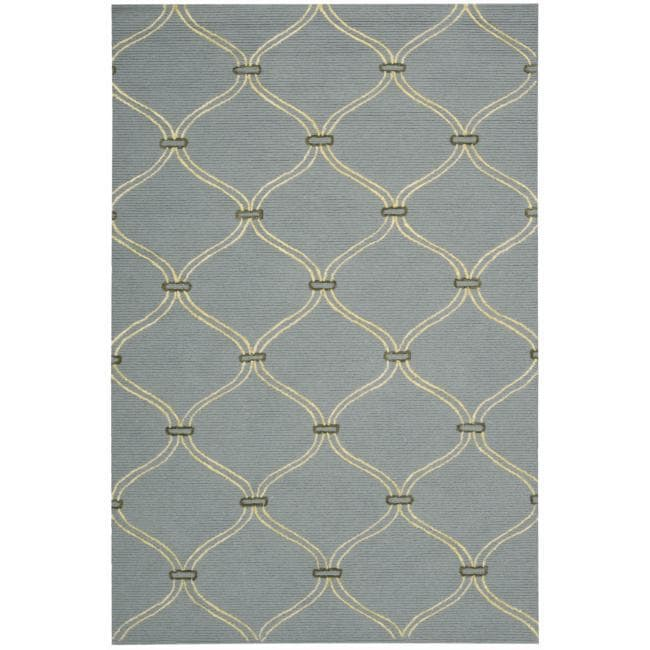 Nourison Cambria Blue Wool Blend Rug (5' x 7'6)