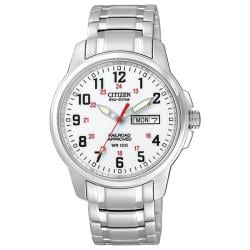 Citizen Men's Eco-Drive RailRoad Stainless Steel Watch