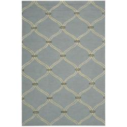 Nourison Cambria Blue Wool Blend Rug (5' x 7'6) - Thumbnail 0