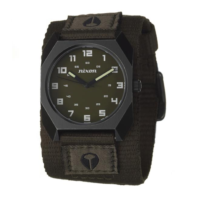 Nixon Men S The Scout Black Stainless Steel And Fabric