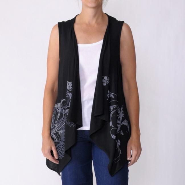California Bloom Women's Sleeveless Asymmetric Cardigan