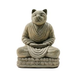 Handmade Buddha Cat Namaste Statue