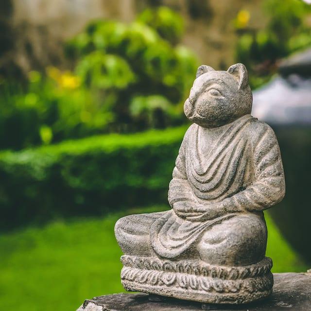 Buddha Cat Namaste Statue