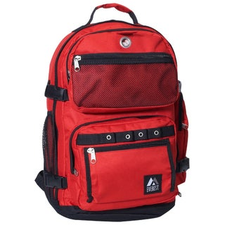 Everest 20-inch Lightweight Oversized Deluxe Polyester Backpack (Option: Red)
