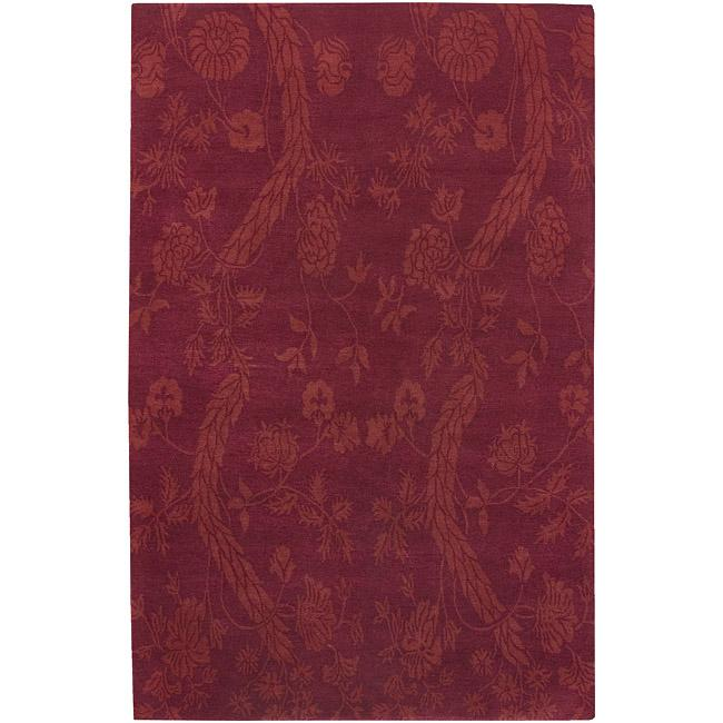 Hand-knotted Heritage Wool Area Rug - 9' x 13'