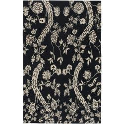 Hand-knotted Kaplan Wool Area Rug (9' x 13') - Thumbnail 0