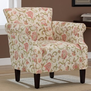 Tiburon Coral Print Arm Chair