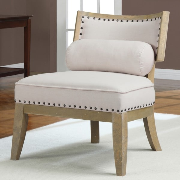 HannahTan Chair with Bolster Pillow