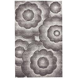 """Handmade Alexa Moda Floral New Zealand Wool Area Rug (7'6"""" x 9'6"""") - Thumbnail 1"""
