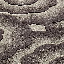 """Handmade Alexa Moda Floral New Zealand Wool Area Rug (7'6"""" x 9'6"""") - Thumbnail 2"""