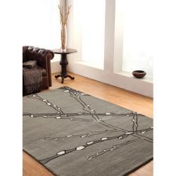nuLOOM Handmade Moda Tree Branch New Zealand Wool Rug (7'6 x 9'6)