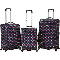 Rockland Deluxe Icon 3-piece Spinner Luggage Set