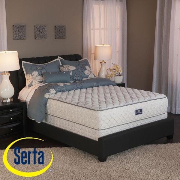 Serta Perfect Sleeper Liberation Cushion Firm Cal King-size Mattress and Box Spring Set