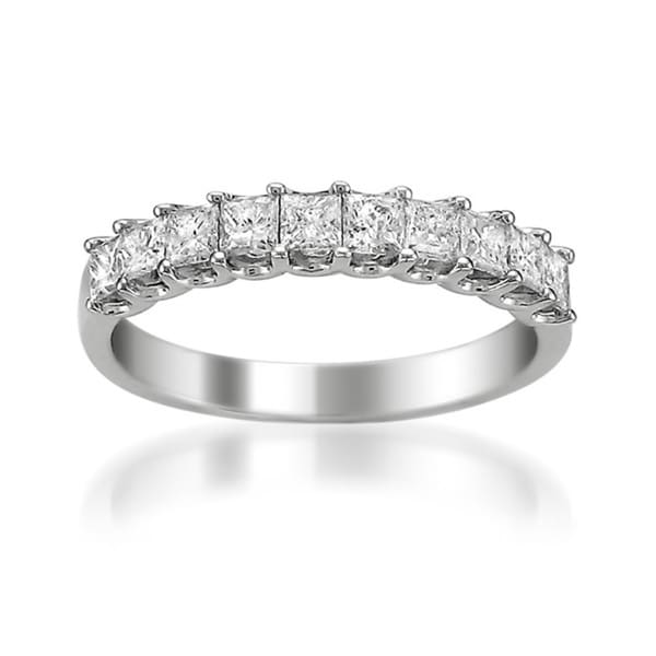 Montebello 14k White Gold 1ct TDW Princess Diamond Wedding Band (H-I, I1-I2)