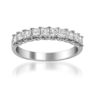 Montebello 14k White Gold 1ct TDW Princess Diamond Wedding Band