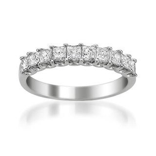 Montebello 14k White Gold 1ct TDW Princess Diamond Wedding Band