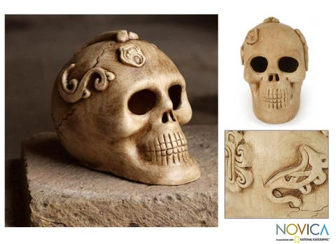 Handmade Ceramic 'Ivory Offering' Figurine (Mexico)
