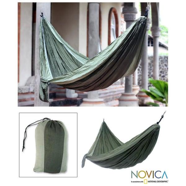 Nylon Parachute 'Green Outdoors' Hammock (Indonesia)