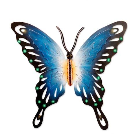 NOVICA Handmade Soul of Wisdom Butterfly Metal Wall Art (Mexico)