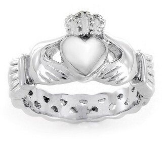 ELYA Love, Friendship, and Loyalty Claddagh Stainless Steel Ring