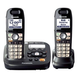 Panasonic DECT 6.0 1.90 GHz Cordless Phone - Metallic Black