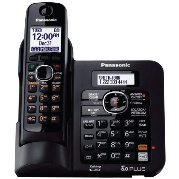 Panasonic KX-TG6641B DECT 6.0 1.90 GHz Cordless Phone - Black