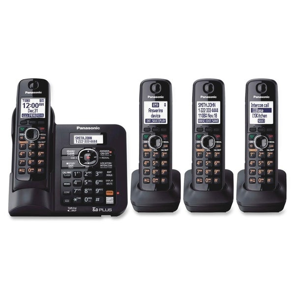 Panasonic DECT 6.0 1.90 GHz Cordless Phone - Black