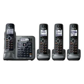Panasonic KX-TG7643M Standard Phone - 1.90 GHz - DECT - Metallic Gray