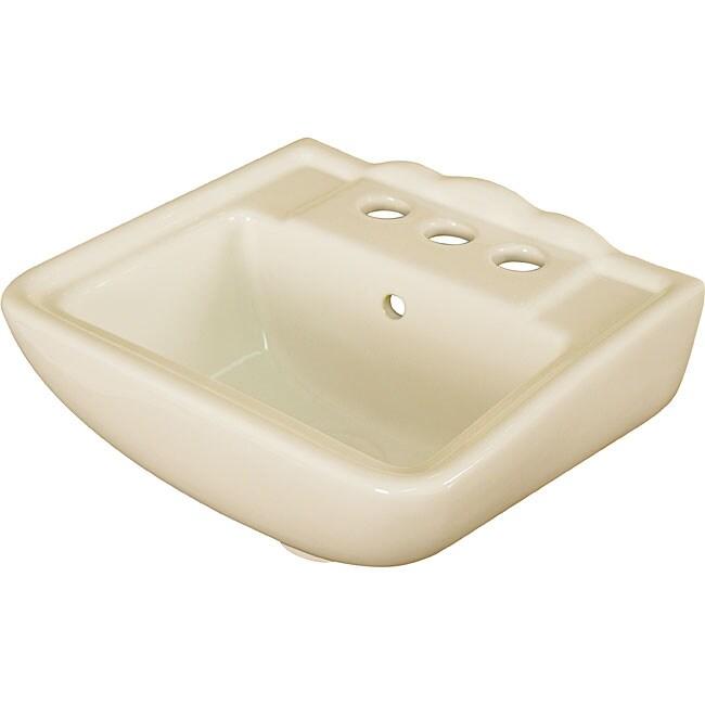 Fine Fixtures Ceramic Biscuit Small Wallmount Sink