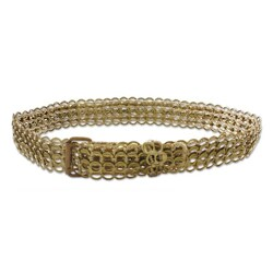 Handmade Women's Aluminum Soda Pop Tab 'Bronze Chain Mail' Belt (Brazil)