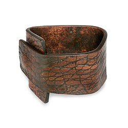 Handmade Leather 'Bold Brown Beauty' Bracelet (Indonesia)