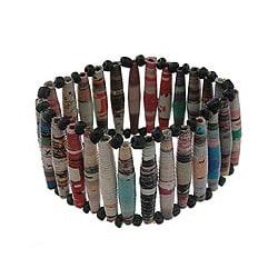 Recycled Paper 'Novelty' Stretch Bracelet (Brazil)